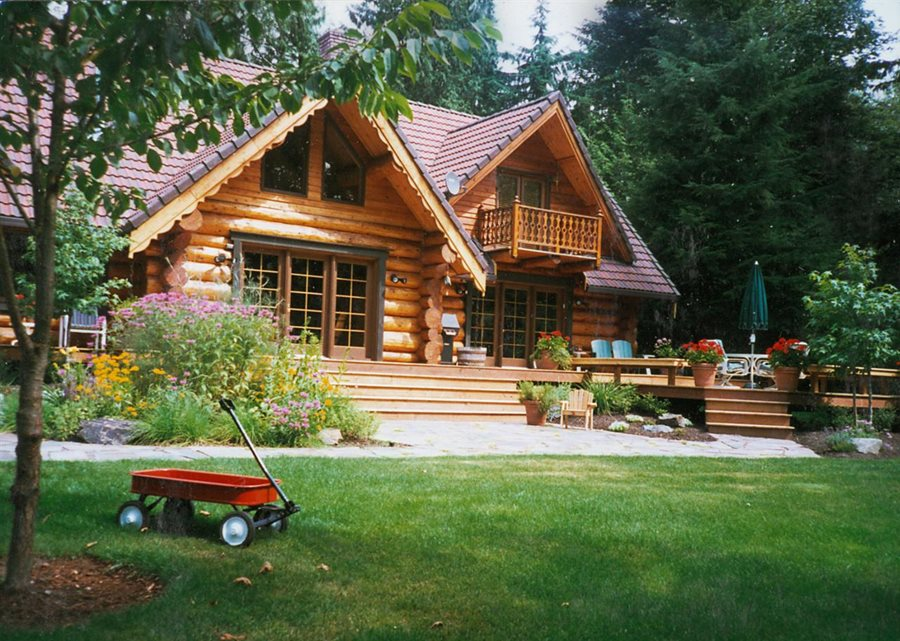 Rustic Backyard Landscape Country Design Classic Nursery And Woodinville WA