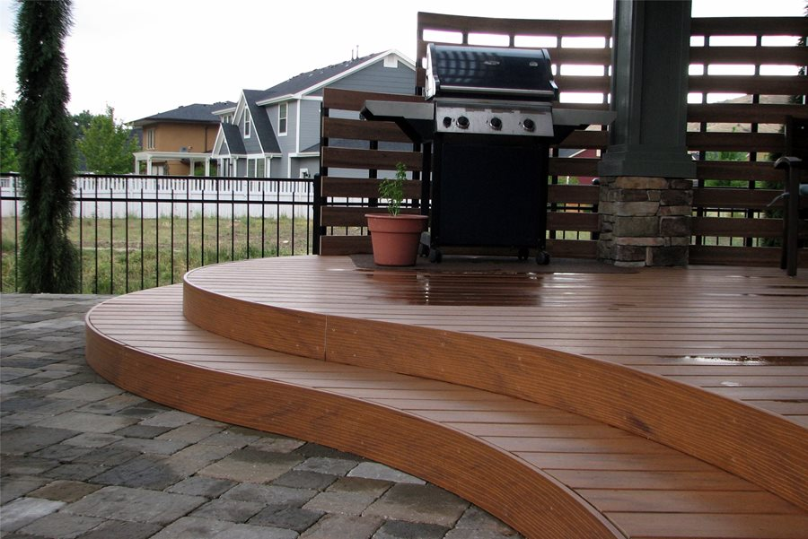 Deck designs and ideas for backyards and front yards for Circular garden decking