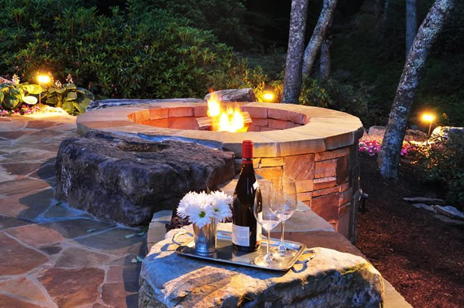 Fire pit cost landscaping network for Prefabricated fire pits