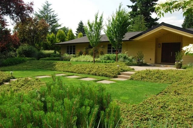 samuel h williamson associates portland or front yard entrance front yard landscaping - Landscape Design Ideas For Front Yards