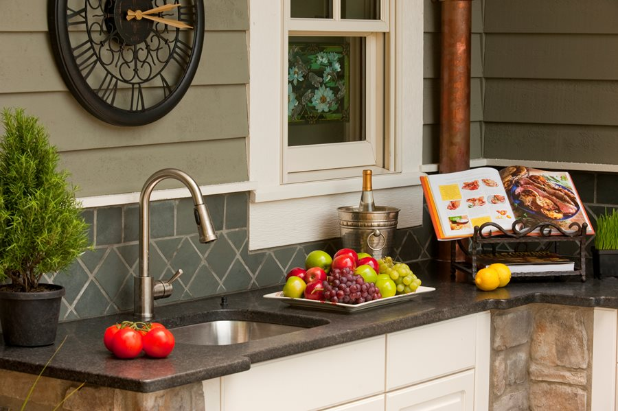 Backyard Kitchen Tips - Landscaping Network on kitchen floor tile ideas, outdoor bar on-deck ideas, tile countertops for bar top ideas, outdoor bar countertop ideas, diy outdoor kitchen ideas, mexican tile outdoor patio ideas, outdoor bar top ideas, small outdoor kitchen ideas, kitchen tile backsplash ideas,