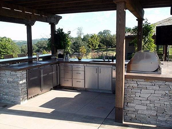 Outdoor Kitchen Layouts – Samples & Ideas - Landscaping Network on deck lighting ideas, patio and outdoor fireplaces, outdoor patio lighting ideas, outdoor patio pergola ideas, swimming pool and outdoor kitchen ideas, outside patio ideas, patio and outdoor bar ideas, patio design ideas, patio decorating ideas, patio and outdoor furniture, patio ideas on a budget, diy outdoor kitchen ideas, inexpensive outdoor patio ideas, patio and outdoor kitchen plan, storage shed and outdoor kitchen ideas,