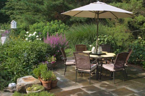 Patio landscape ideas landscaping network - Garden patio ideas pictures ...