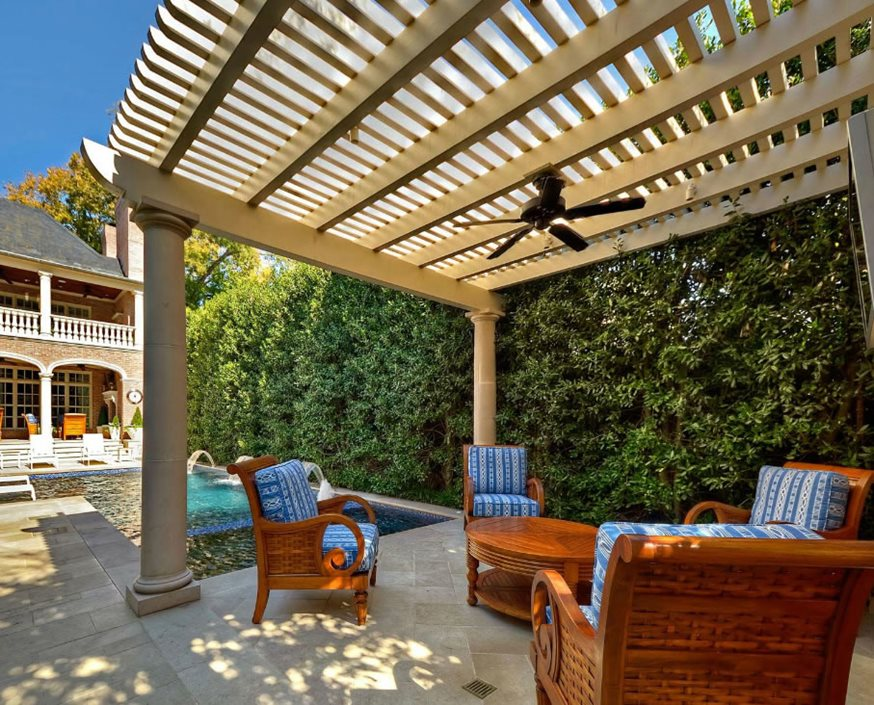 freestanding patio cover pergola columns pergola fan pergola and patio cover harold leidner landscape - Roofing Ideas For Patio