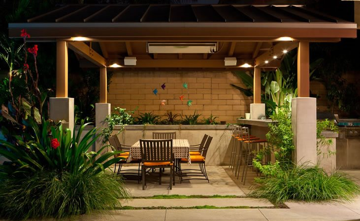 Patio Cover, Lights, Night Pergola and Patio Cover Terry Design Inc  Fullerton, CA - Pergola And Patio Cover Ideas - Landscaping Network