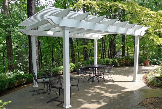 vinyl aluminum pergola kits landscaping network. Black Bedroom Furniture Sets. Home Design Ideas