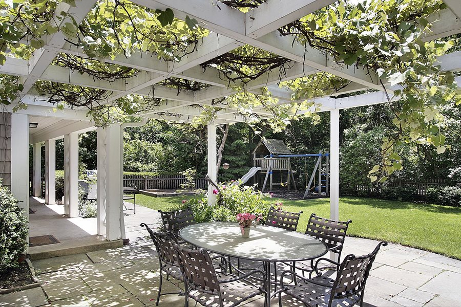 Pergola plants and vines landscaping network for Whirlpool garten mit balkon pergola