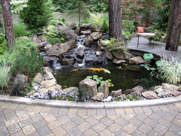 Pond And Waterfall Woodyu0027s Custom Landscaping Inc Battle Ground, WA. A  Natural Water Garden ...
