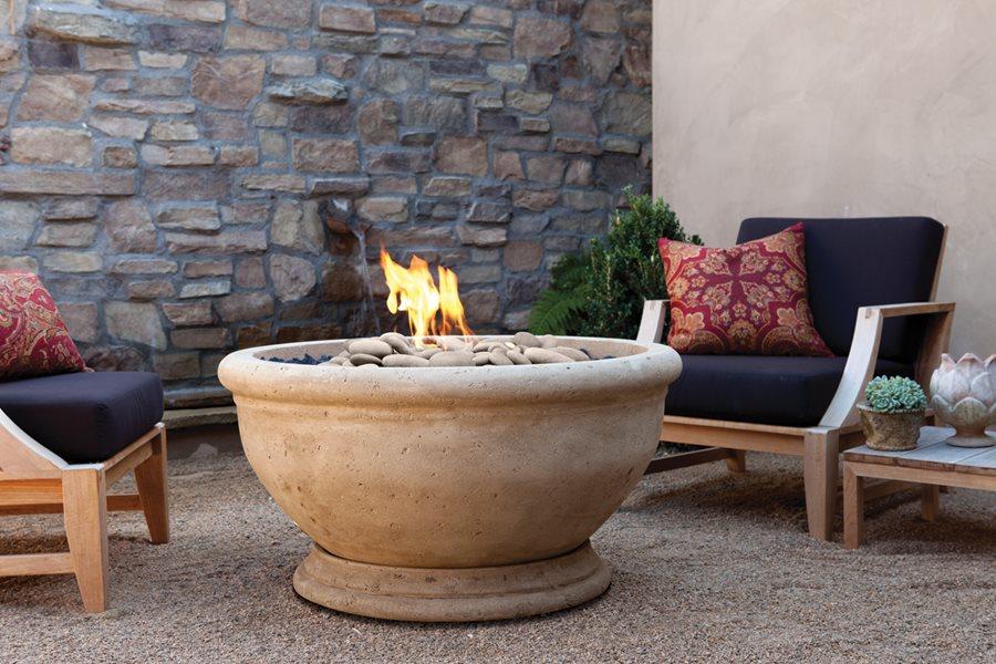Artisan fire bowls landscaping network for Eldorado stone fire pit