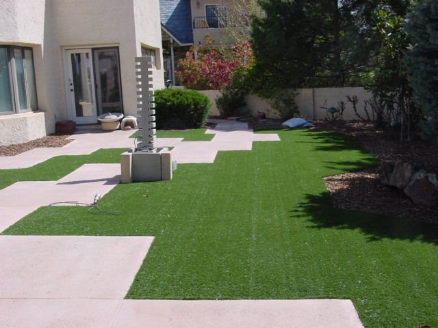 Artificial turf grass landscaping network for Garden design ideas artificial grass