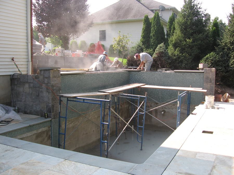 building swimming pool swimming pool cipriano landscape design mahwah nj - Olympic Size Swimming Pool Dimensions