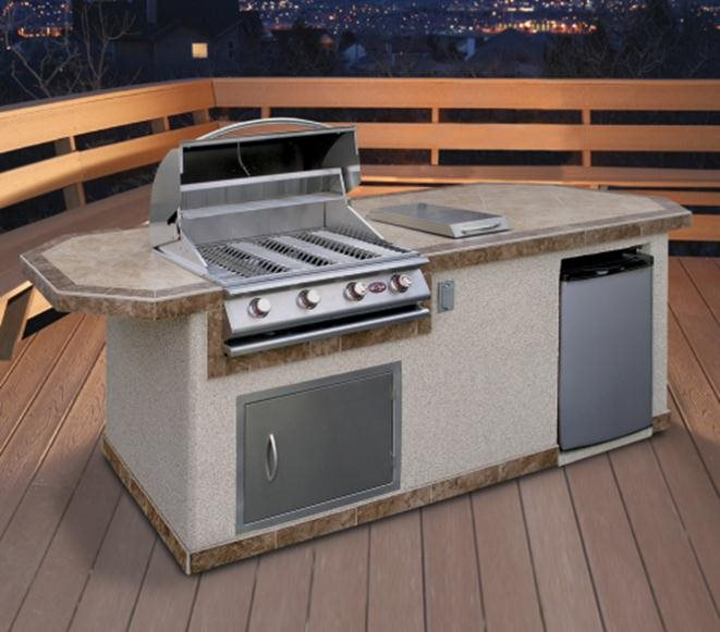 Prefab outdoor kitchen kits landscaping network for Pre built kitchen units