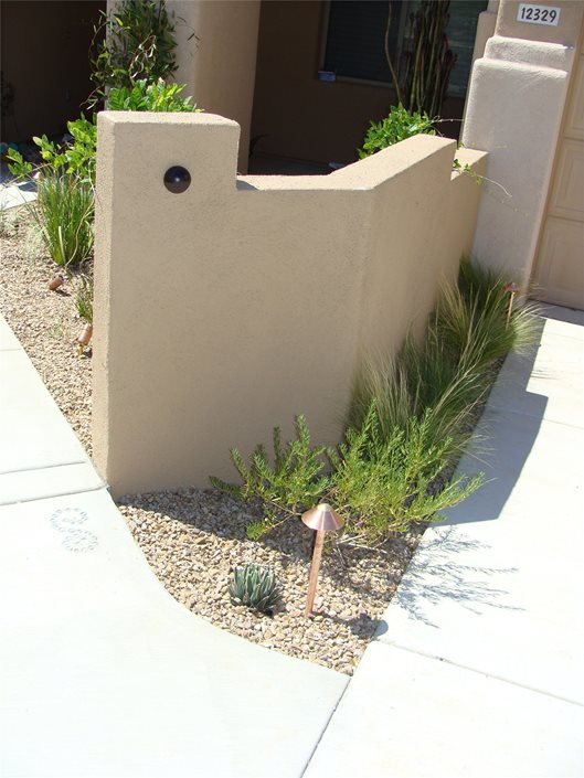 Colorful Desert Courtyard Landscaping Network