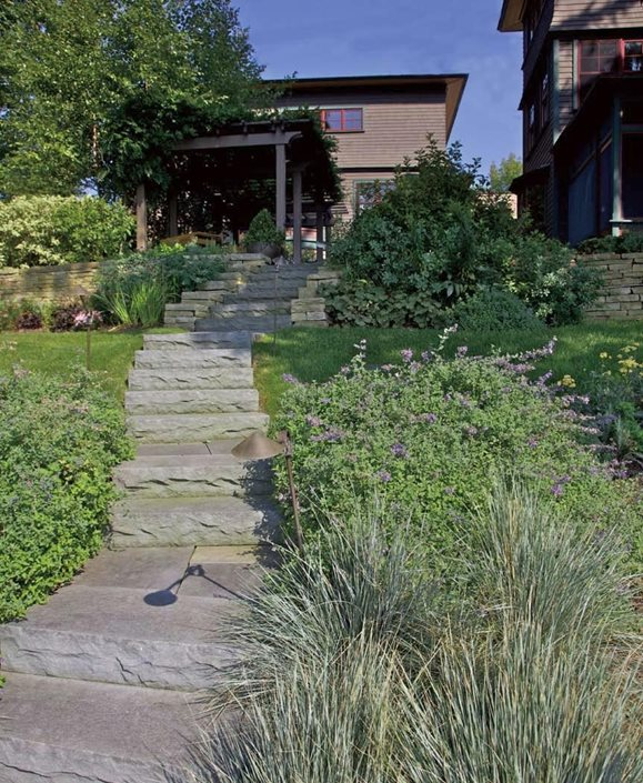 coastal stairs grasses a j miller landscape architecture syracuse ny