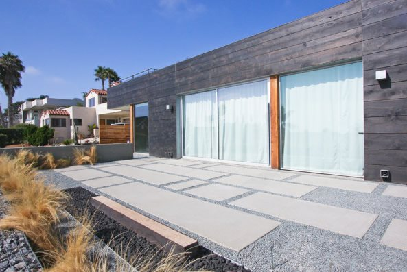 Oversized Concrete Pavers - Landscaping Network on Modern Concrete Backyard id=21439