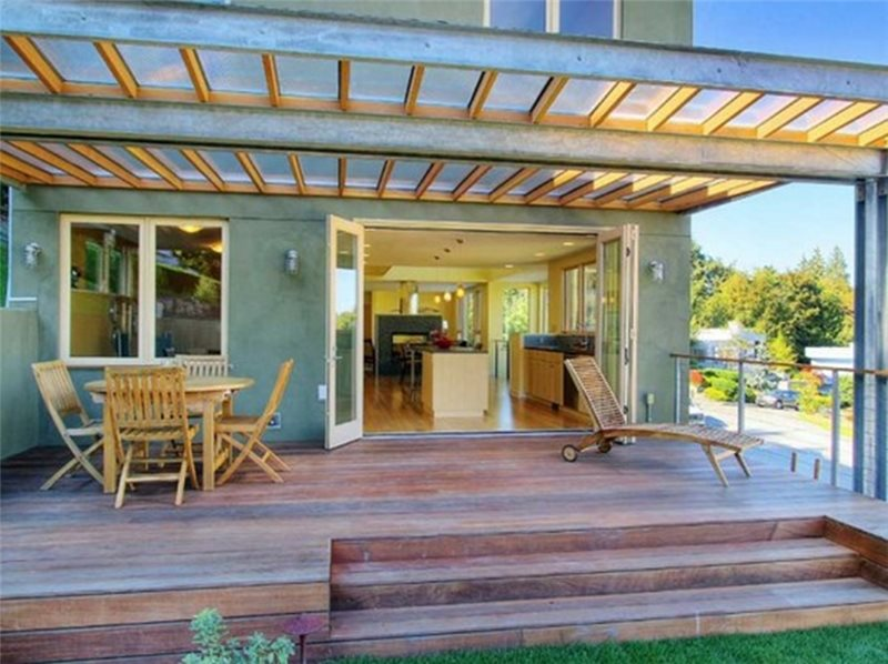 Modern patio cover design ideas landscaping network for Modern glass porch designs