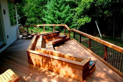 Deck construction landscaping network for Ready made decking frame