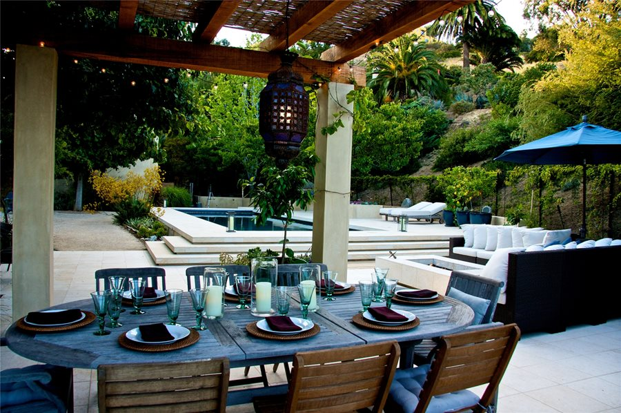 Outdoor Dining Room With A View