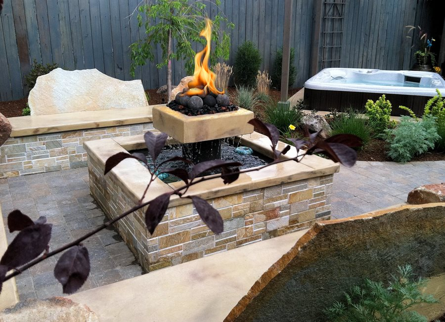 Fire and water elements landscaping network for Fire and water features