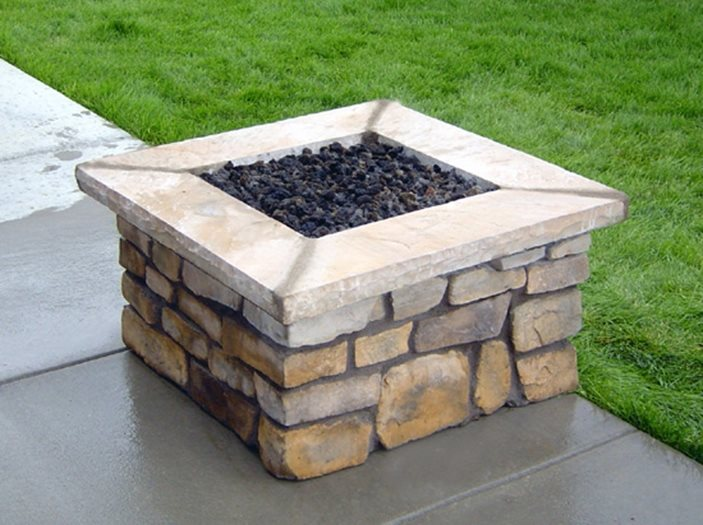 prefabricated fire pits landscaping network