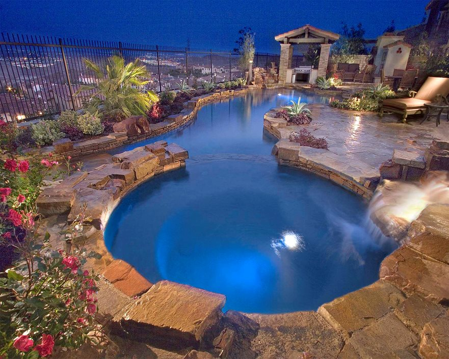 Pool deck materials landscaping network - Used swimming pool slides for inground pools ...