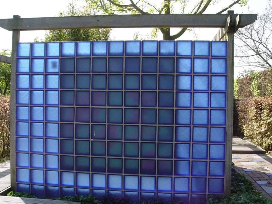 Backyard landscape partitions landscaping network for Glass block windows prices
