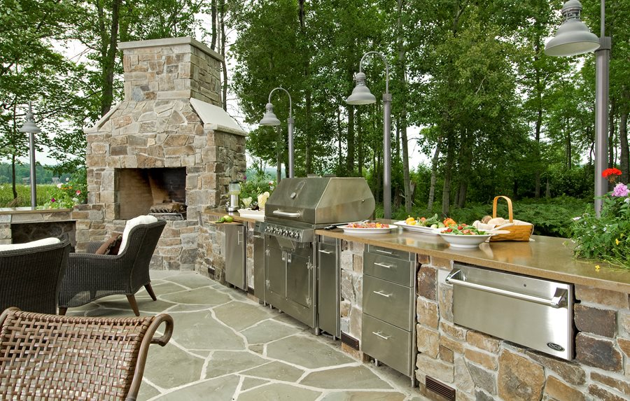 Outdoor appliances equipment landscaping network for Outdoor summer kitchen ideas