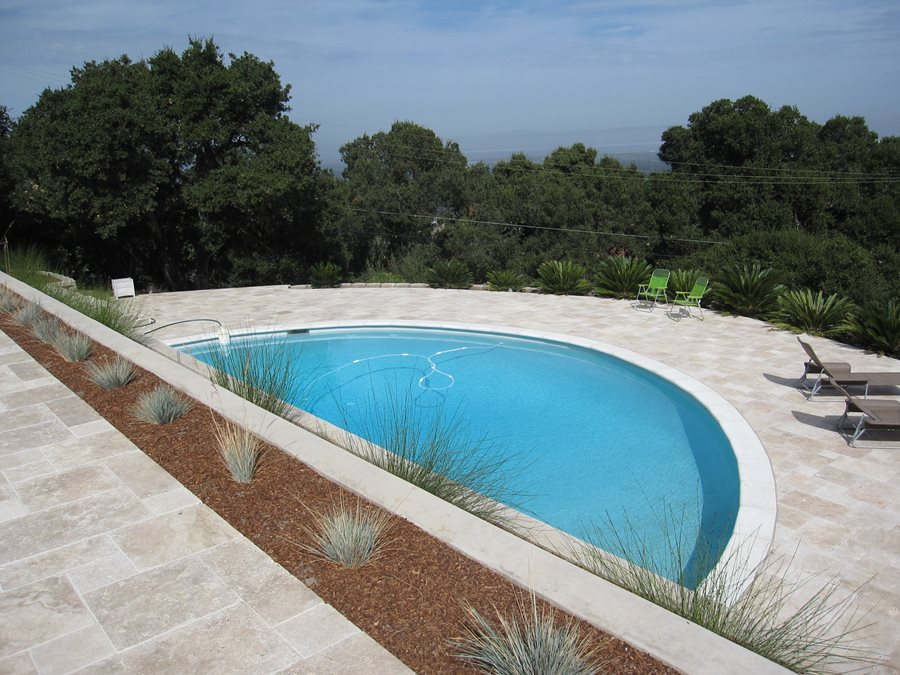 half circle pool shades of green landscape architecture sausalito ca - Swimming Pool Designs