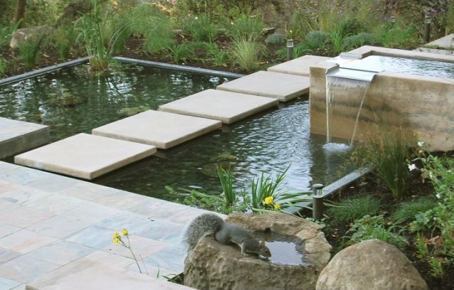 Modern pond design landscaping network for Concrete fish pond construction and design
