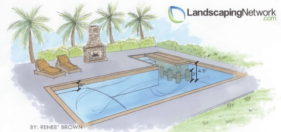 Drawing Swimming Pools : Swim up bar pro tips landscaping network