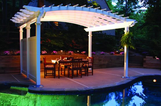 Pergola Backyard America : lightedpergolabackyardamerica5461jpg