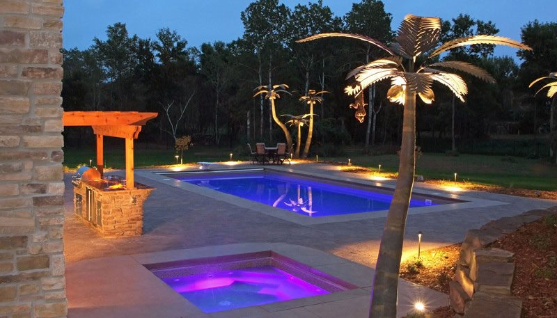 Swimming pool lighting ideas landscaping network lighted pool deck prestige pools st paul mn mozeypictures Images