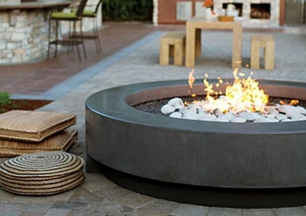 diy fire pit on concrete patio over how to make a top mark precast