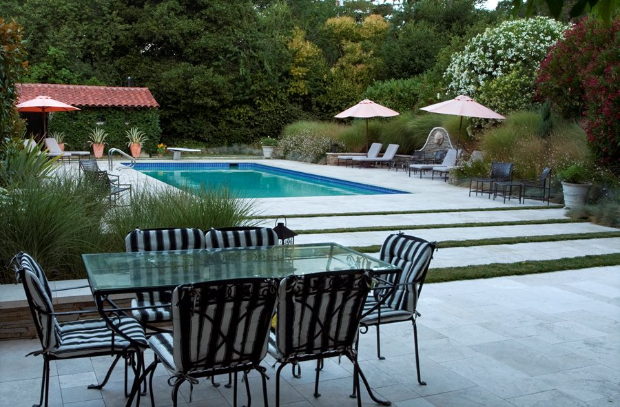 Rectangular Pool Landscape Designs swimming pool cost & pricing - landscaping network