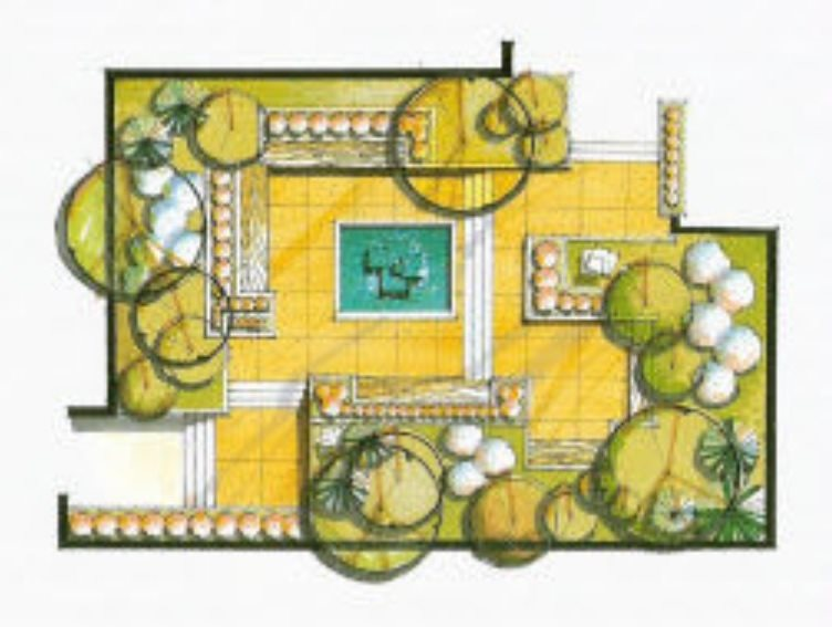 Garden layouts landscaping network for Grid landscape design