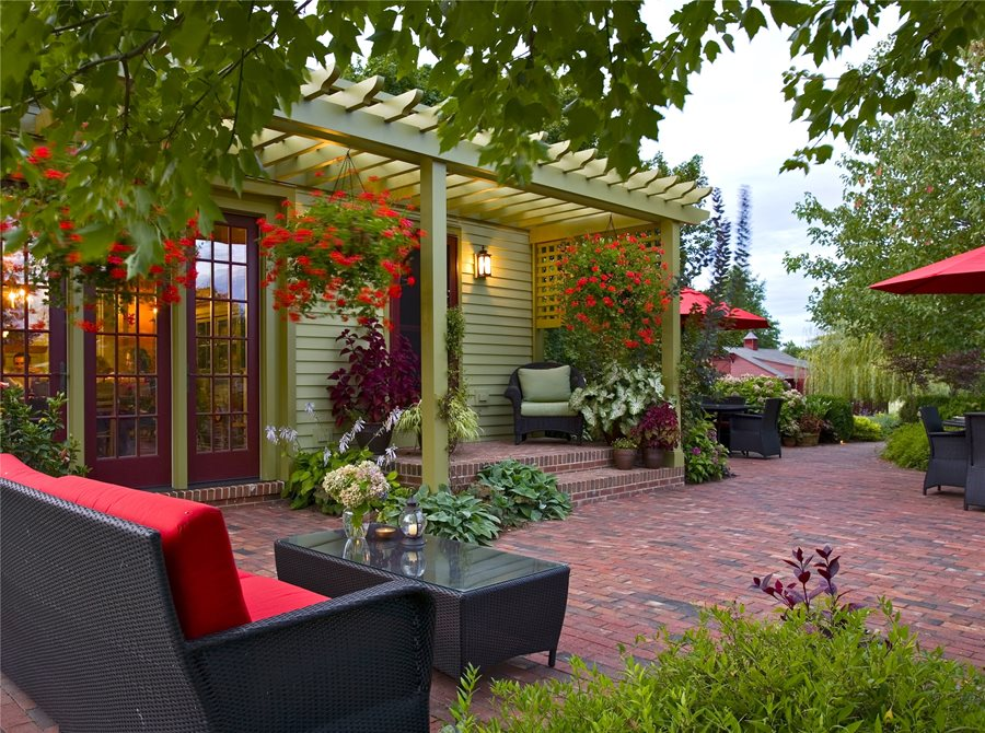 Brick Patio Ideas - Landscaping Network on Small Backyard Brick Patio Ideas id=60397