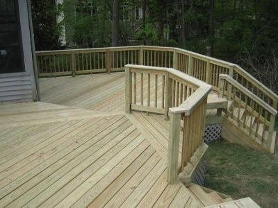Deck repair maintenance landscaping network for Cost of composite decking vs pressure treated