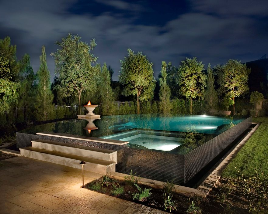 Elevated Pool infinity edge pools - landscaping network