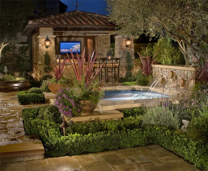 Beautiful Spa Fountain Mirage Landscape Ladera Ranch, CA