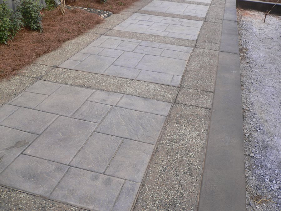 Flagstone Stamped Concrete : Stamped concrete mimics flagstone landscaping network