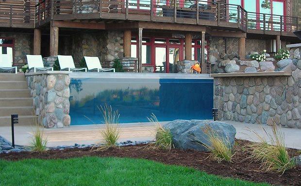 Inground pools landscaping network for Landscaping rocks grand rapids