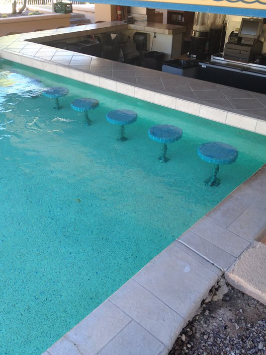 Swim Up Bar Pool Landscaping Network Calimesa Ca
