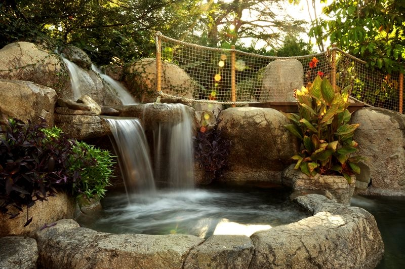 Backyard waterfall design ideas landscaping network for Pictures of backyard waterfalls