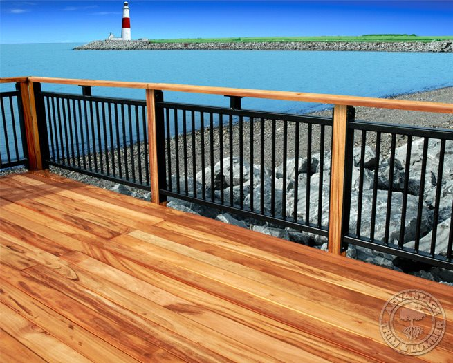 Wood deck ideas landscaping network for Timber decking handrail