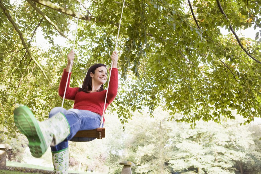 tree swings are enjoyable for children and adults alike