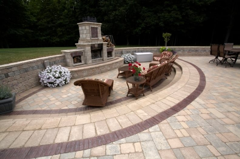 Paver Patio Ideas - Landscaping Network on Backyard Masonry Ideas id=51927