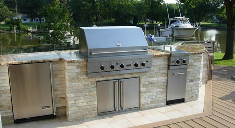 Stainless Steel Built In Grills Amp Bbqs Landscaping Network