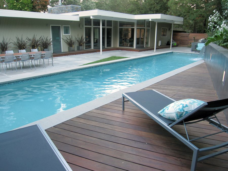Pool deck materials landscaping network for Wood pool deck design