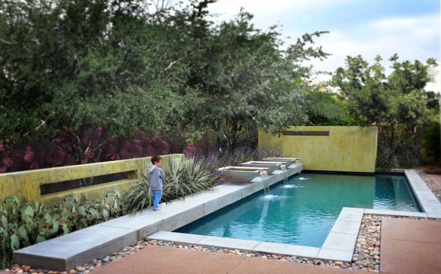 Exceptional Geometric Pool Design Swimming Pool Bianchi Design Scottsdale, AZ
