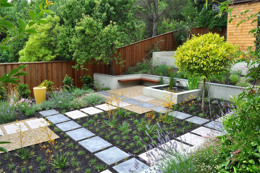 Low maintenance backyards landscaping network for Garden design ideas without grass low maintenance